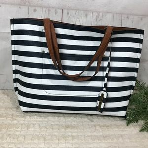 Street level Jacey striped Reversible tote NWT